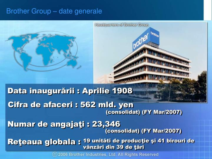 Brother Group – date generale