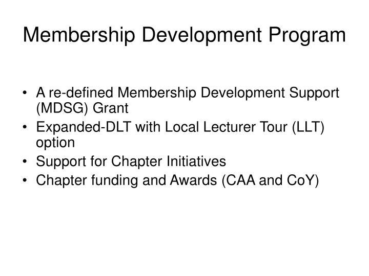 Membership Development Program
