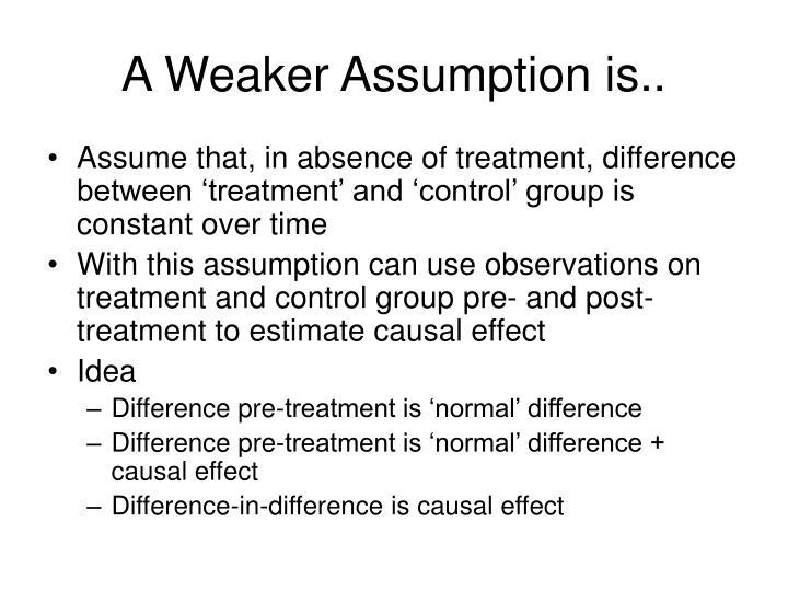A Weaker Assumption is..