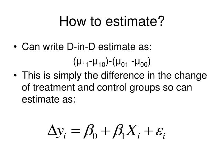 How to estimate?