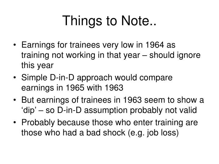 Things to Note..