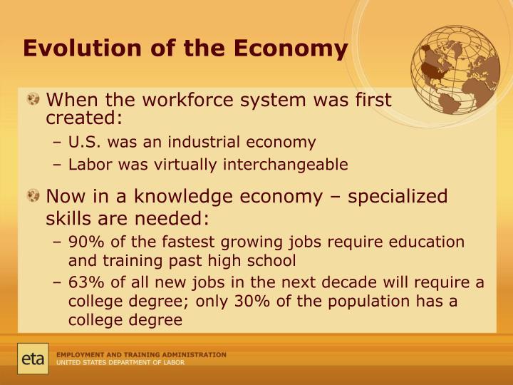 Evolution of the Economy