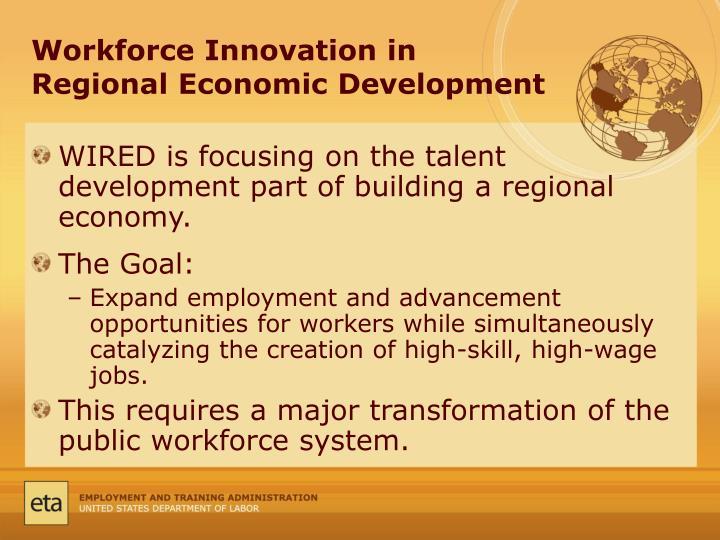 Workforce Innovation in Regional Economic Development