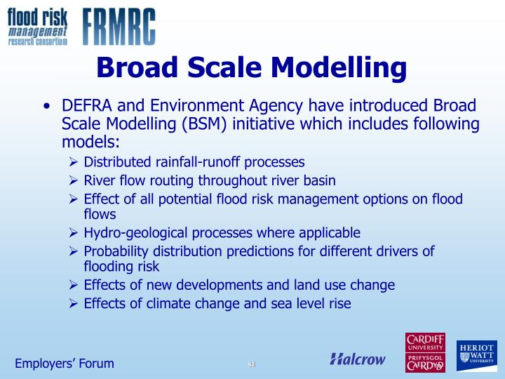 Broad Scale Modelling