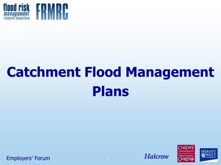 Catchment Flood Management Plans