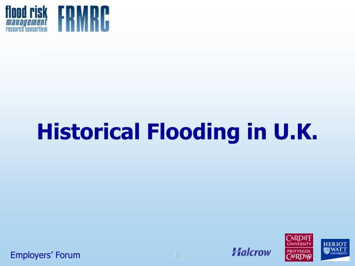 Historical Flooding in U.K.