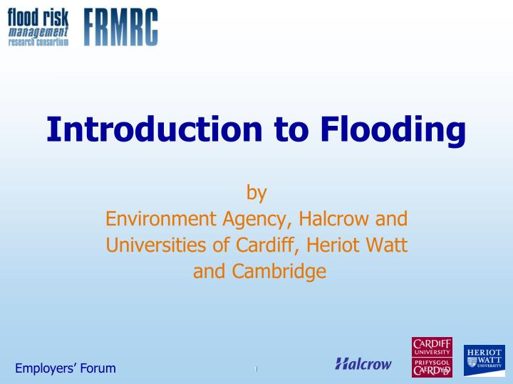Introduction to flooding