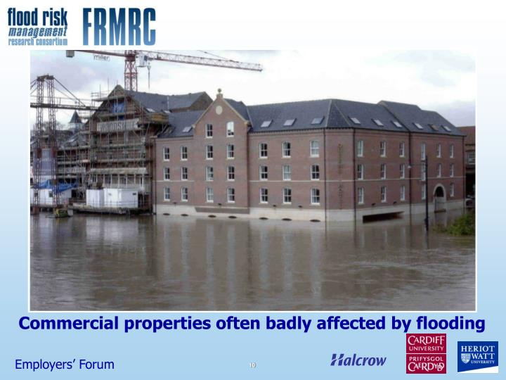 Commercial properties often badly affected by flooding
