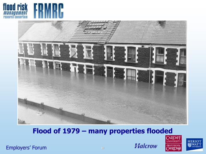 Flood of 1979 – many properties flooded