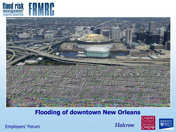 Flooding of downtown New Orleans