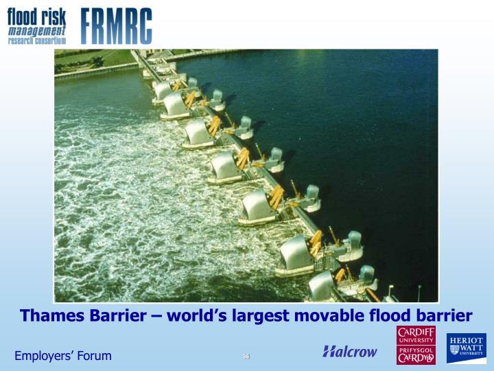 Thames Barrier – world's largest movable flood barrier