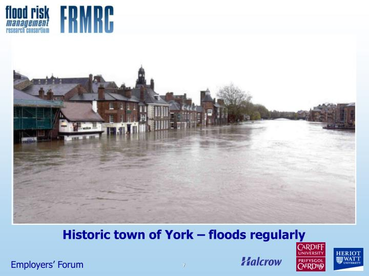 Historic town of York – floods regularly