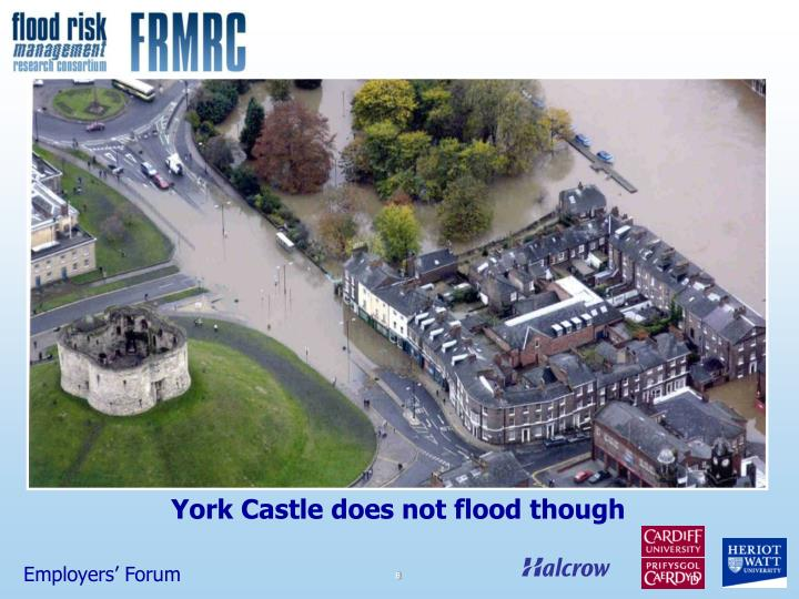 York Castle does not flood though
