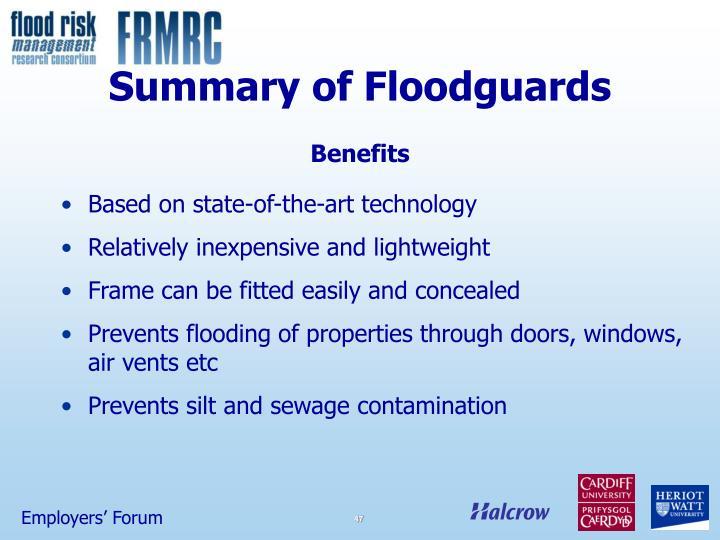 Summary of Floodguards