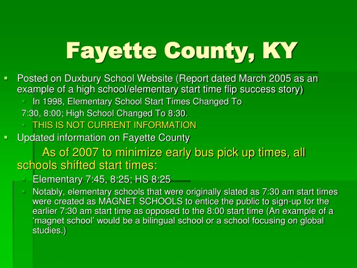 Fayette County, KY