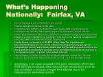 what s happening nationally fairfax va
