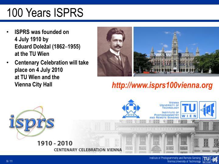 100 Years ISPRS