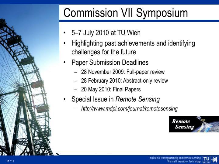 Commission VII Symposium