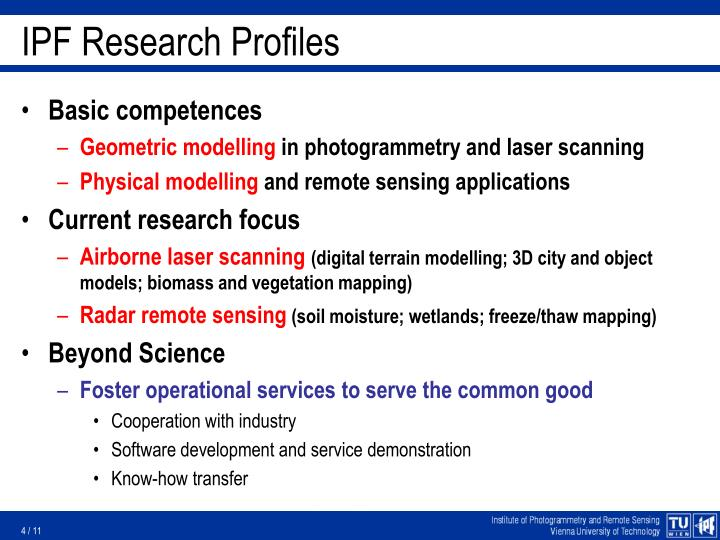 IPF Research Profiles
