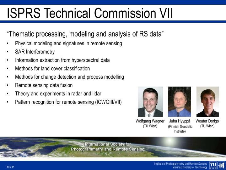 ISPRS Technical Commission VII