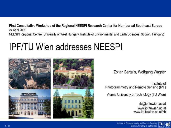 First Consultative Workshop of the Regional NEESPI Research Center for Non-boreal Southeast Europe