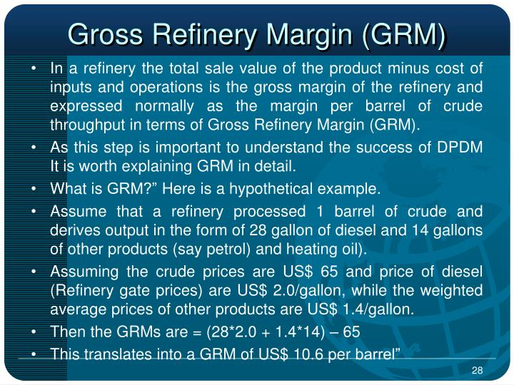 Gross Refinery Margin (GRM)