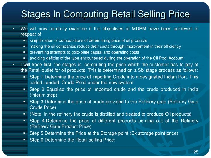 Stages In Computing Retail Selling Price