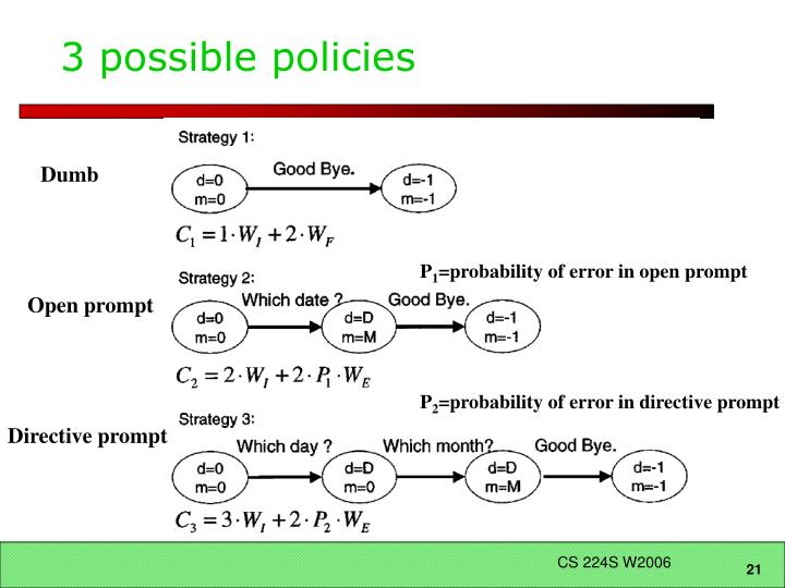 3 possible policies