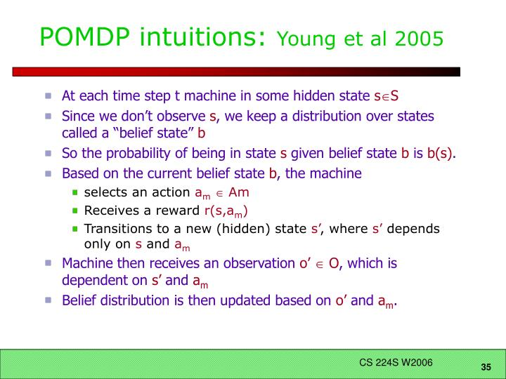 POMDP intuitions: