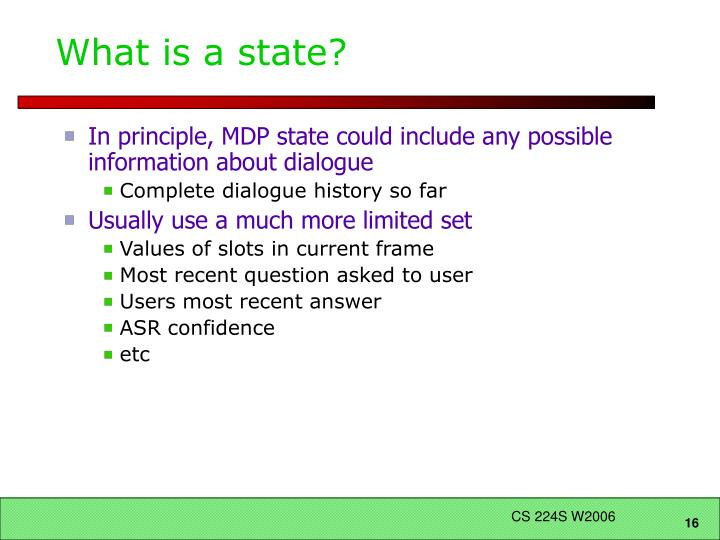 What is a state?