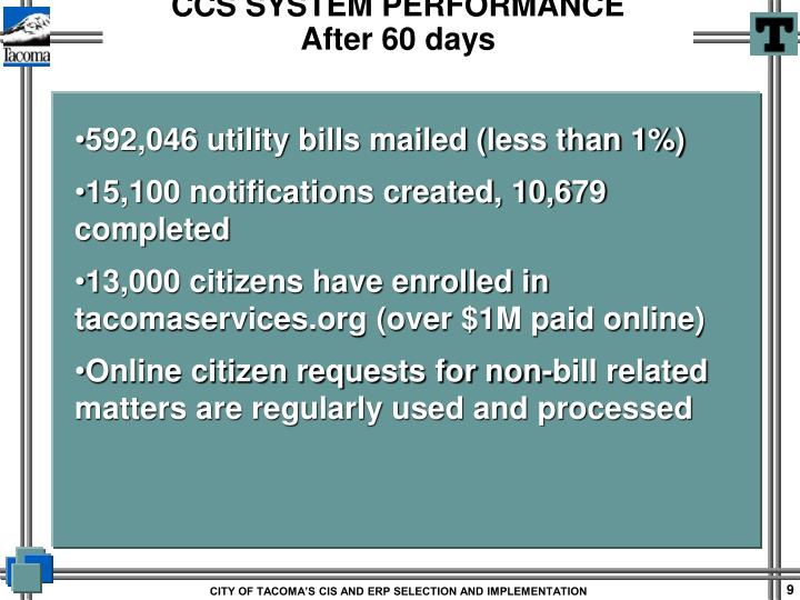 592,046 utility bills mailed (less than 1%)