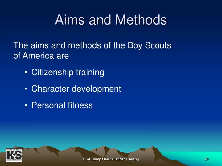 Aims and Methods