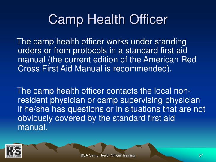 Camp Health Officer