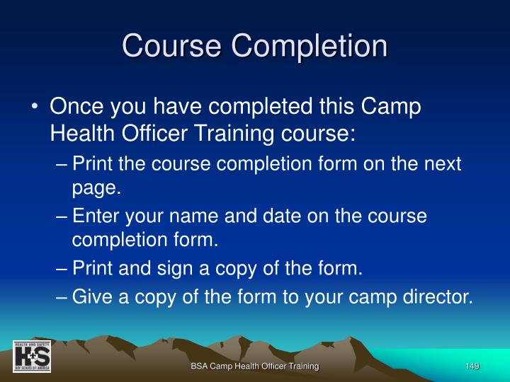 Course Completion