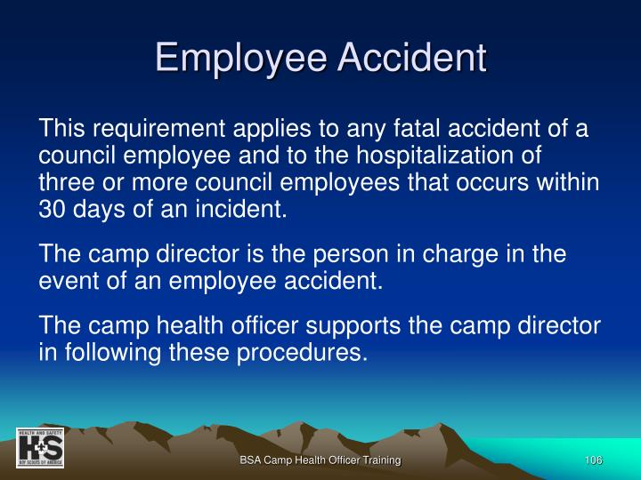 Employee Accident