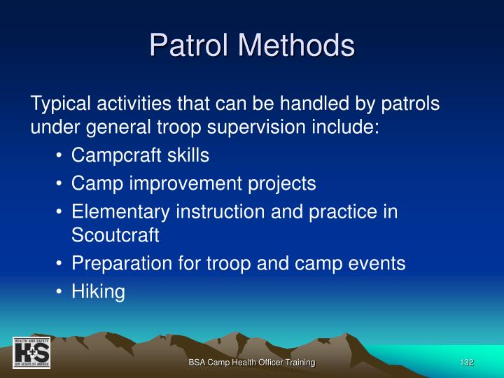 Patrol Methods