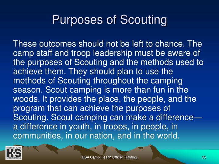 Purposes of Scouting