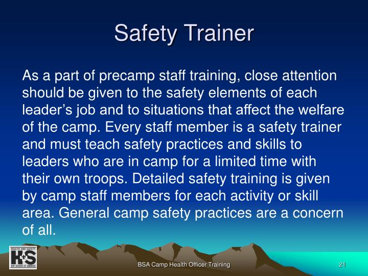 Safety Trainer