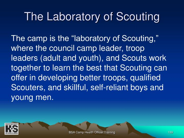 The Laboratory of Scouting