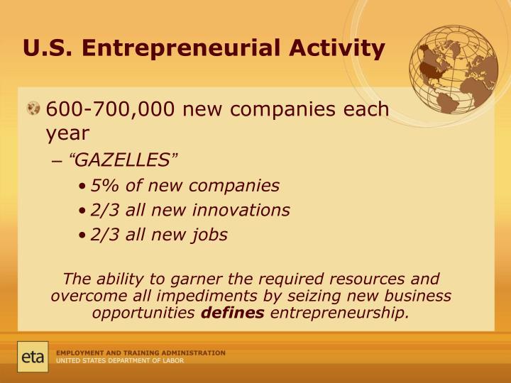 U.S. Entrepreneurial Activity