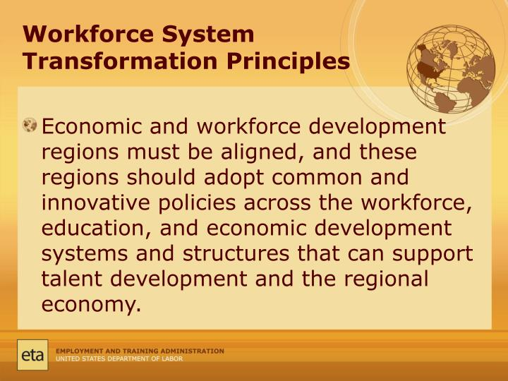 Workforce System Transformation Principles
