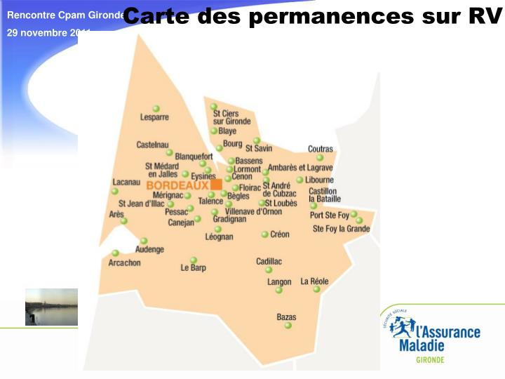 Carte des permanences sur RV
