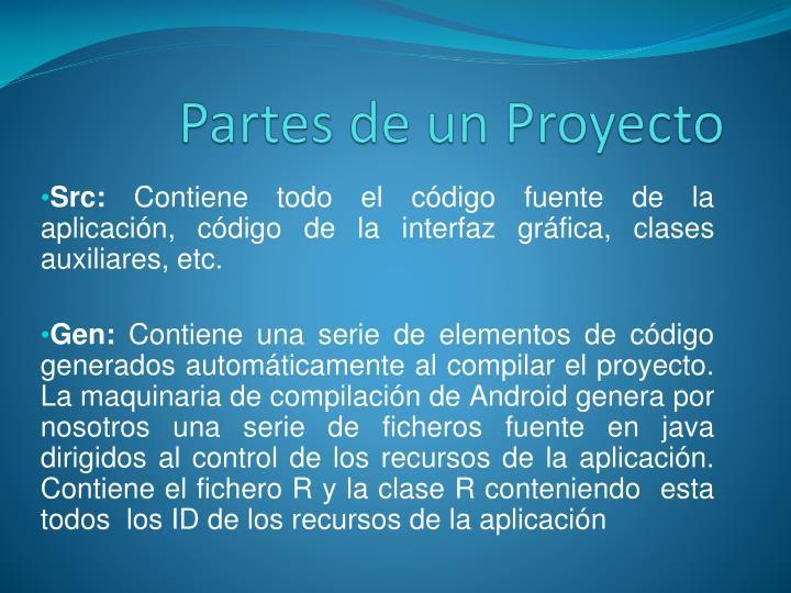 Partes de un Proyecto