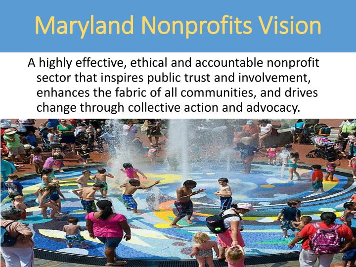 Maryland Nonprofits Vision
