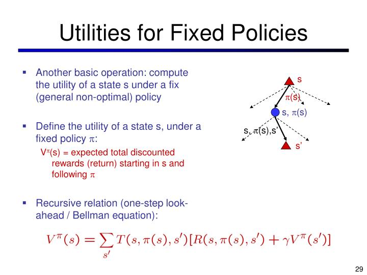 Utilities for Fixed Policies