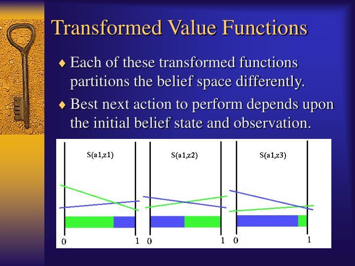 Transformed Value Functions