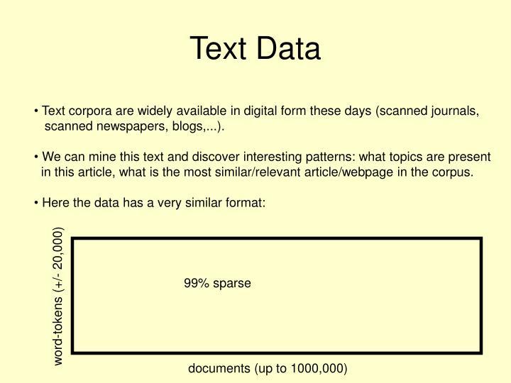 Text Data