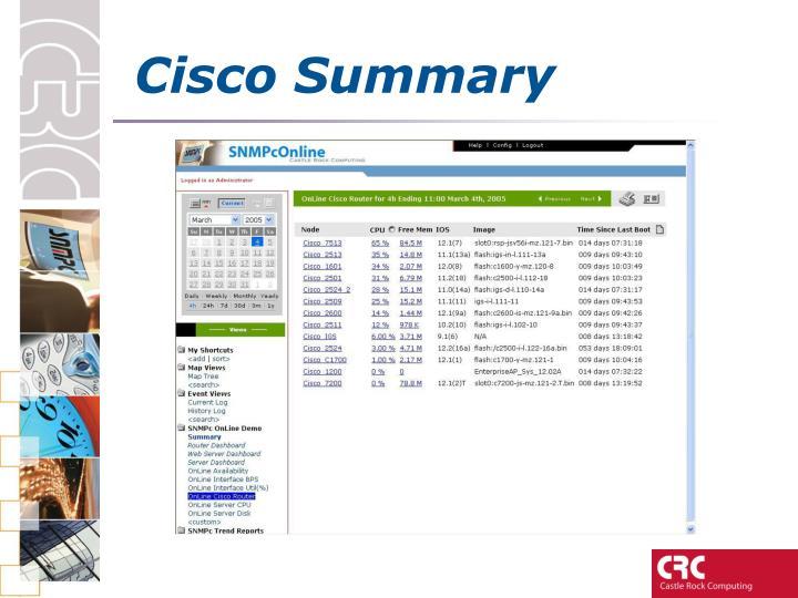 Cisco Summary