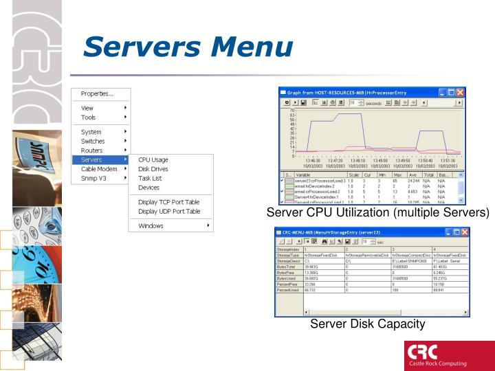Servers Menu