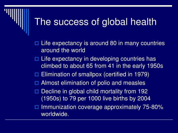 The success of global health